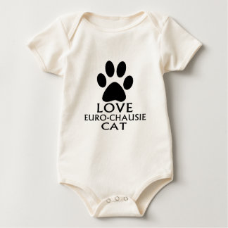 BODY PARA BEBÊ DESIGN DO CAT DO AMOR EURO-CHAUSIE
