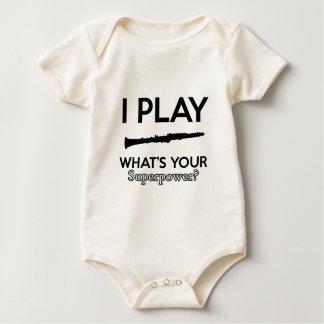 Body Para Bebê design do clarinete