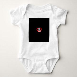 Body Para Bebê Design do coração da vela para o estado de Nevada