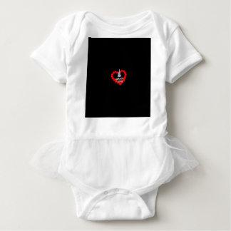 Body Para Bebê Design do coração da vela para o estado de New