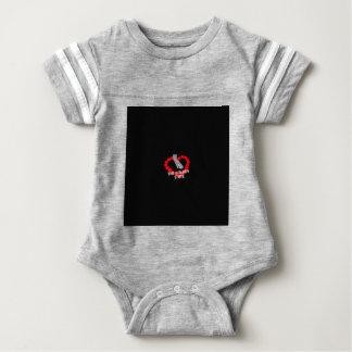 Body Para Bebê Design do coração da vela para os Estados da