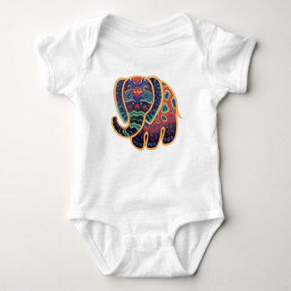 Body Para Bebê Design do elefante indiano do bebê