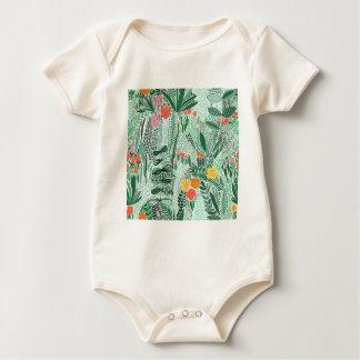 Body Para Bebê Design do ethno de Indonésia das flores
