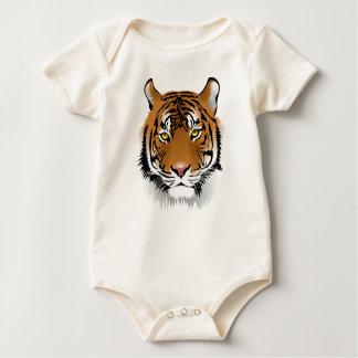 Body Para Bebê Design do impressão da cabeça do tigre