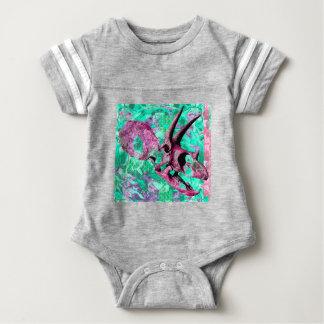 Body Para Bebê Design do impressão do crânio do dinossauro