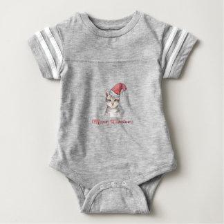 Body Para Bebê Design do Natal de Meowy para amantes do gato