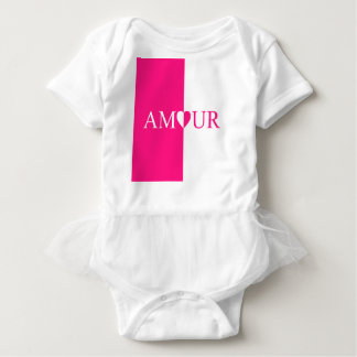 Body Para Bebê Design do rosa do amor do CASO AMOROSO