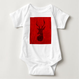Body Para Bebê Design do veado vermelho