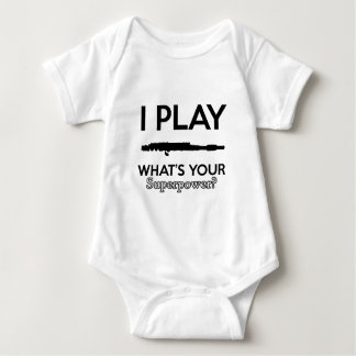 Body Para Bebê design engraçado das flautas