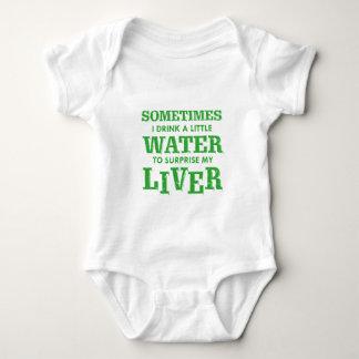 Body Para Bebê Design engraçado do fígado