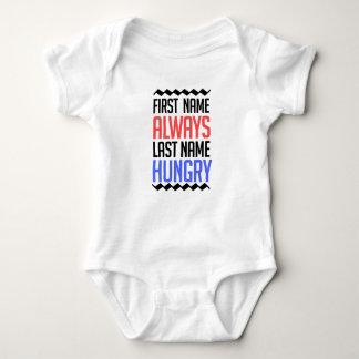 Body Para Bebê design engraçado, do nome sobrenome sempre com