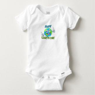 Body Para Bebê Design feliz da mascote do globo dos desenhos