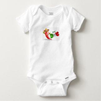 Body Para Bebê Design feliz da pimenta de Cinco De Mayo