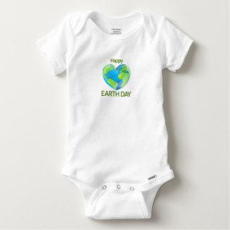 Body Para Bebê Design feliz do globo do coração do Dia da Terra