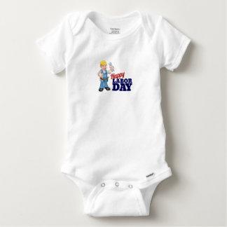 Body Para Bebê Design feliz do trabalhador do Dia do Trabalhador