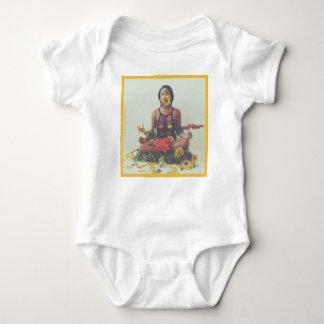 Body Para Bebê Design floral da meditação de Sha Davis