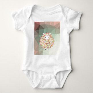 Body Para Bebê Design florido dos carneiros do tom Pastel