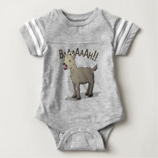Body Para Bebê Design gritando do macarronete do Doodle da cabra