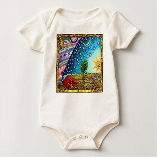 Body Para Bebê Design liso 2017 da terra do Woodcut de Flammarion