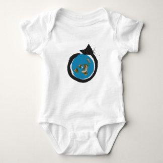 Body Para Bebê Design liso da terra - CLÁSSICO do MAPA do CAT
