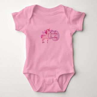 Body Para Bebê Design mágico de domingo Funday do bebê do