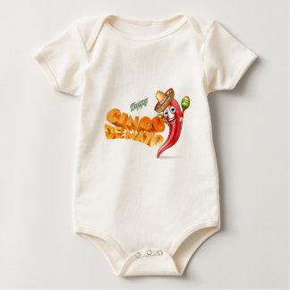 Body Para Bebê Design mexicano da pimenta de Cinco De Mayo