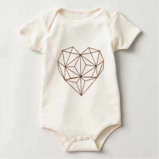 Body Para Bebê design oxidação-geométrico do coração