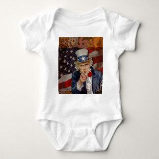 Body Para Bebê Design patriótico da bandeira de Steampunk Sam