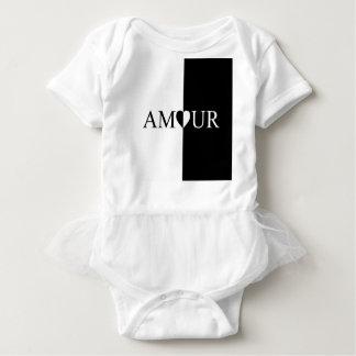 Body Para Bebê Design preto e branco do amor do CASO AMOROSO