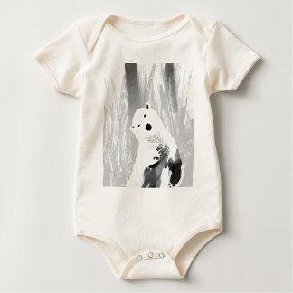 Body Para Bebê Design preto e branco original do urso polar