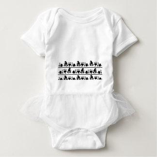 Body Para Bebê Design preto e branco simples