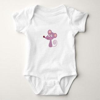 Body Para Bebê Design/rato dos miúdos no branco
