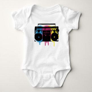 Body Para Bebê Design retro da pintura pistola dos grafites de