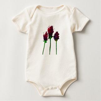 Body Para Bebê Design roxo bonito da flor