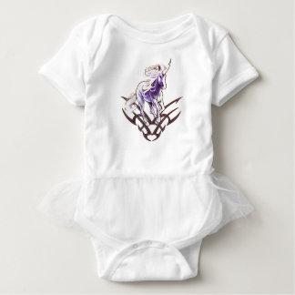 Body Para Bebê Design tribal do tatuagem do unicórnio