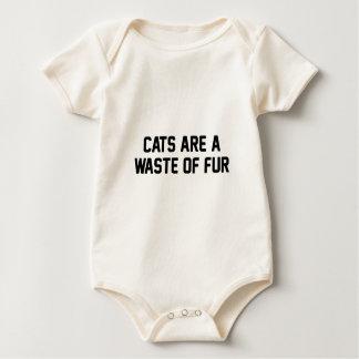 Body Para Bebê Desperdício dos gatos da pele