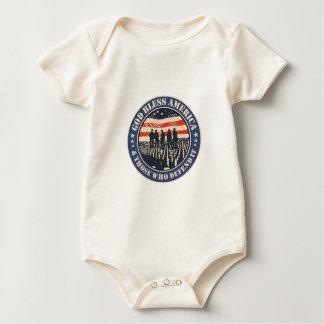 Body Para Bebê Deus abençoe América