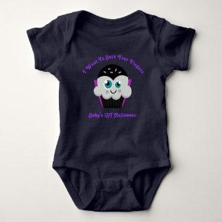 Body Para Bebê Dia das Bruxas do bebê do cupcake da contagem o ø