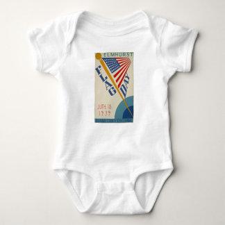 Body Para Bebê Dia de bandeira do vintage