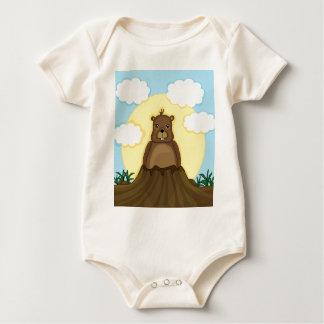Body Para Bebê Dia de Groundhog