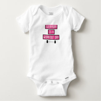 Body Para Bebê Dia diário Z52c3 do exercício