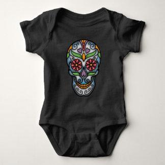 Body Para Bebê Dia do crânio inoperante do açúcar