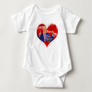 Body Para Bebê dia dos namorados feliz Donald Trump