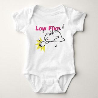 Body Para Bebê Diabo tímido bonito baixos cinco