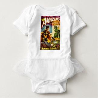 Body Para Bebê Diabrete atrás do vidro
