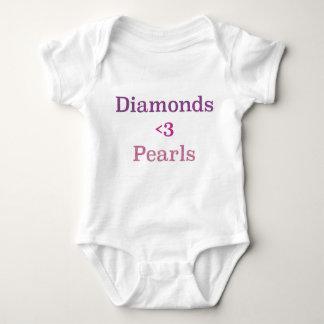 Body Para Bebê Diamantes & pérolas