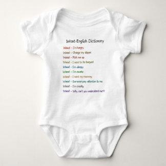 Body Para Bebê Dicionário Criança-Inglês