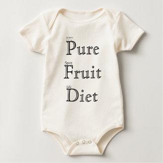 Body Para Bebê Dieta pura da fruta