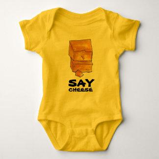 Body Para Bebê DIGA o presente engraçado de Foodie do queijo