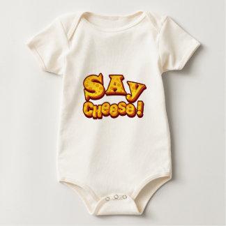 Body Para Bebê diga o queijo!